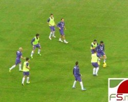 Fiorentina riscaldamento