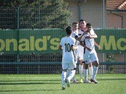 I ragazzi del Palermo Primavera in gioia