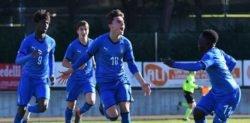 Italia Under 15: la formazione azzurra va sotto nel punteggio dopo l'ora di gioco ma trova l'1-1 in extremis con un gol di Accornero.
